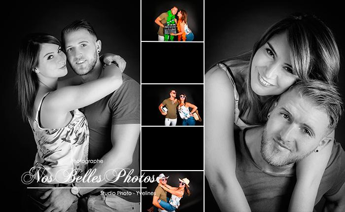 Photographe portrait Poissy Yvelines, vous propose d'une idée cadeau, un coffret cadeau shooting photo de couple, photo d'engagement